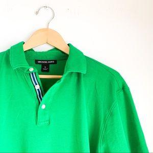 MICHAEL KORS men's green golf polo shirt XL